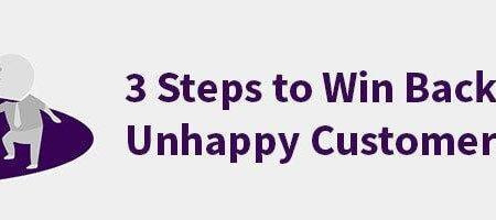 HappyOrNot blog post: 3 Steps to win back unhappy customers
